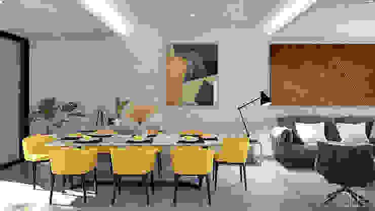 GLE Arquitectura Ruang Makan Modern