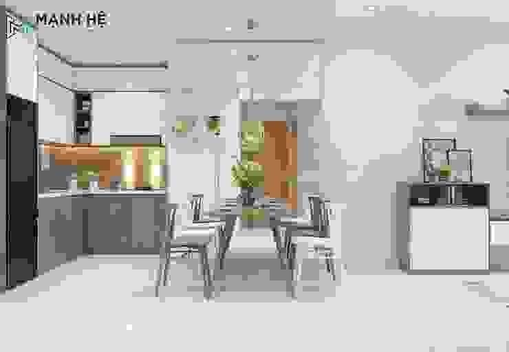 Phòng bếp Phòng ăn phong cách hiện đại bởi Công ty TNHH Nội Thất Mạnh Hệ Hiện đại Gạch