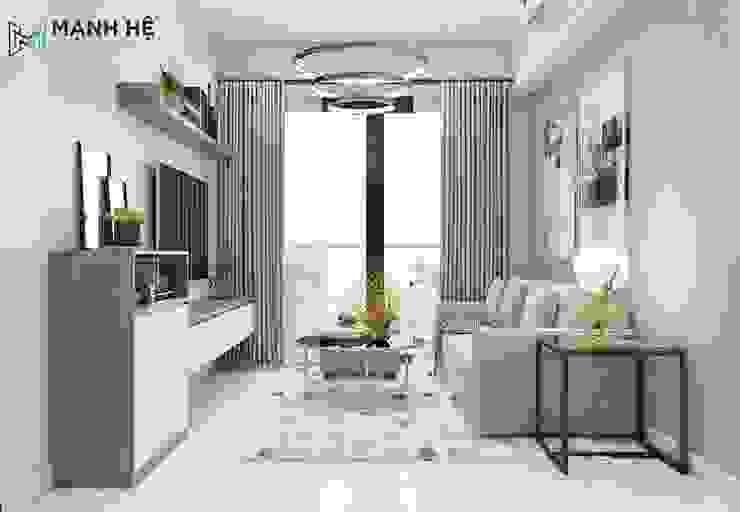 Phòng khách bởi Công ty TNHH Nội Thất Mạnh Hệ Hiện đại Gỗ-nhựa composite