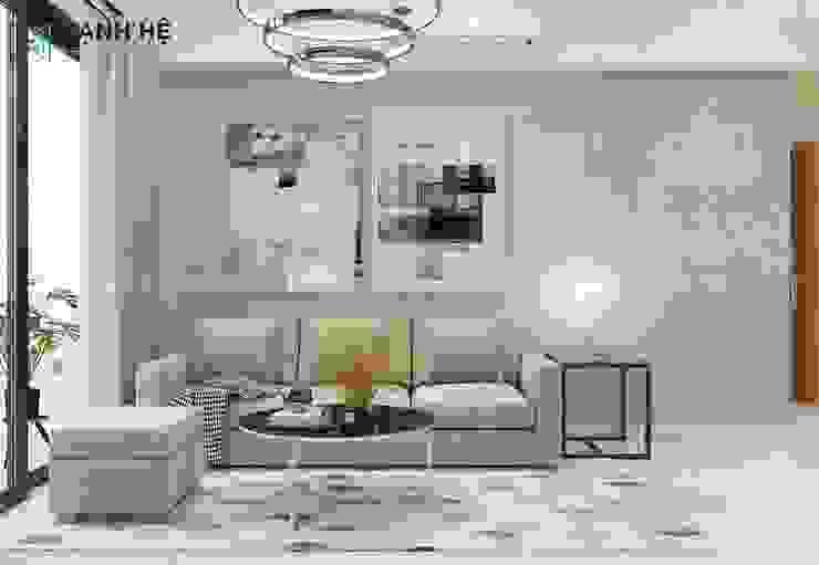 Ghế Sofa phòng khách bởi Công ty TNHH Nội Thất Mạnh Hệ Hiện đại Bần