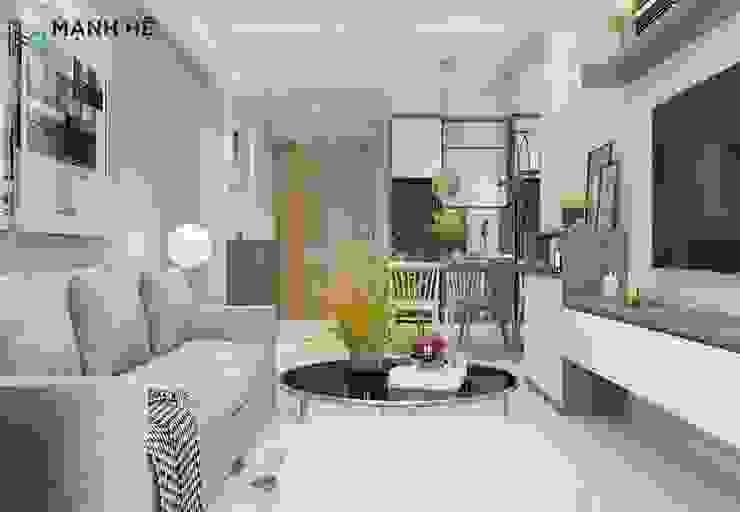 Phòng khách bởi Công ty TNHH Nội Thất Mạnh Hệ Hiện đại Bê tông