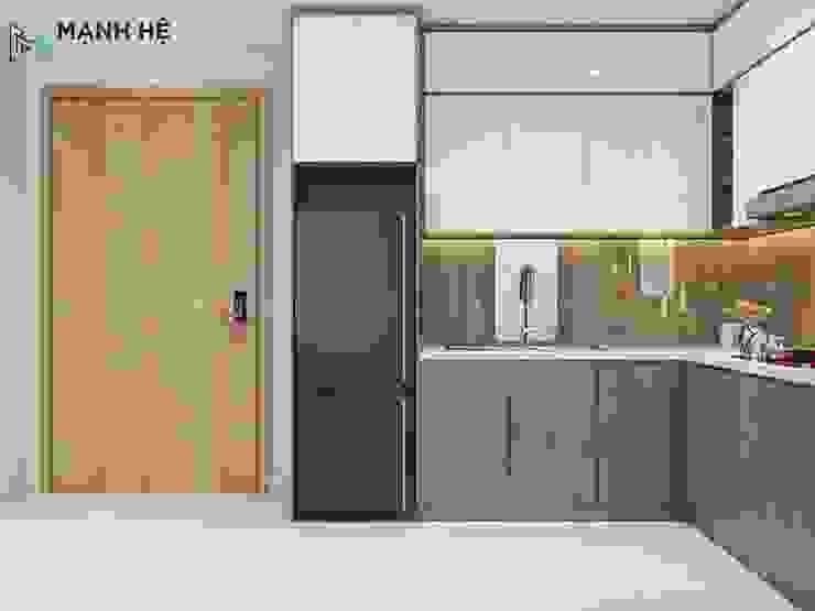 Tủ bếp bởi Công ty TNHH Nội Thất Mạnh Hệ Hiện đại Gỗ Wood effect