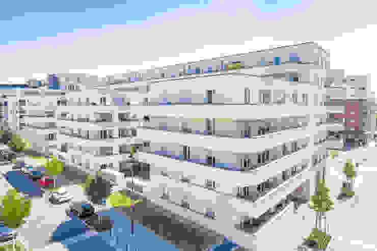 Immobilienfotografie, Wohnanlagen Innenstadt Frankfurt von Udo Geisler Photographie Modern Beton