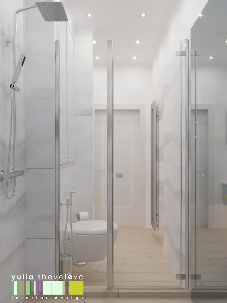 에클레틱 욕실 by Мастерская интерьера Юлии Шевелевой 에클레틱 (Eclectic)