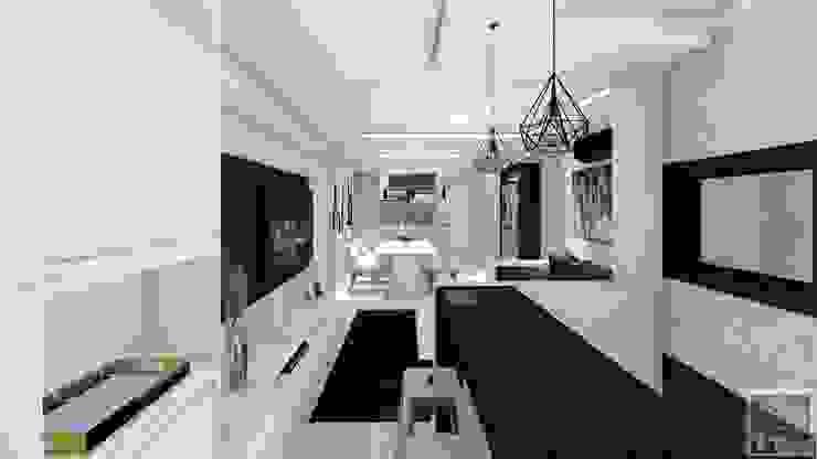 LK Engenharia e Arquitetura Living roomTV stands & cabinets