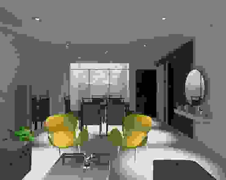 Sala Comedor Vista en 3D (Propuesta de Diseño) de Pamela Cerna Interiores Escandinavo