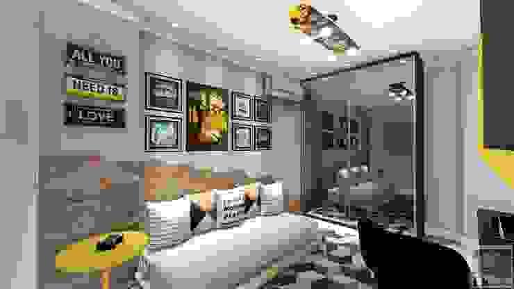 LK Engenharia e Arquitetura Modern style bedroom