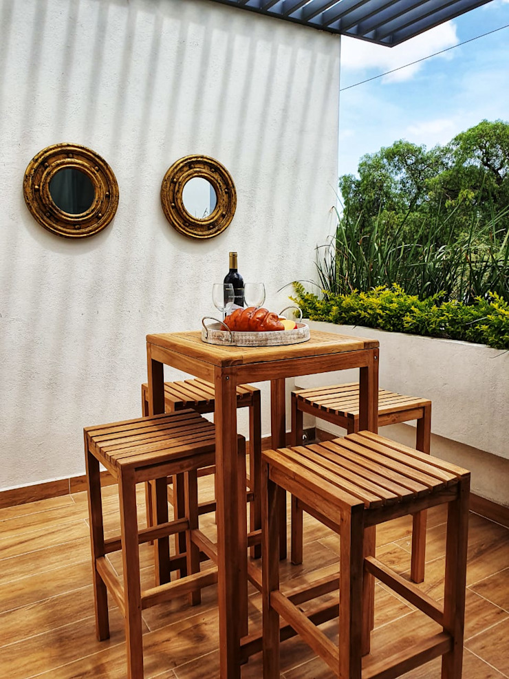 Shike Studio Balconies, verandas & terraces Furniture