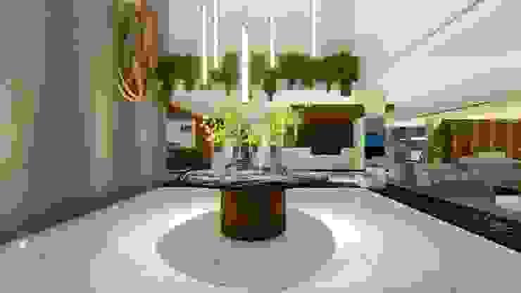 LOBBY | HALL ACESSO Arquitetura Sônia Beltrão & associados Hotéis modernos Concreto Branco