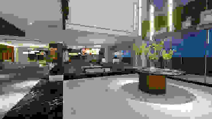 LOBBY | HALL ACESSO Arquitetura Sônia Beltrão & associados Hotéis modernos Mármore Branco