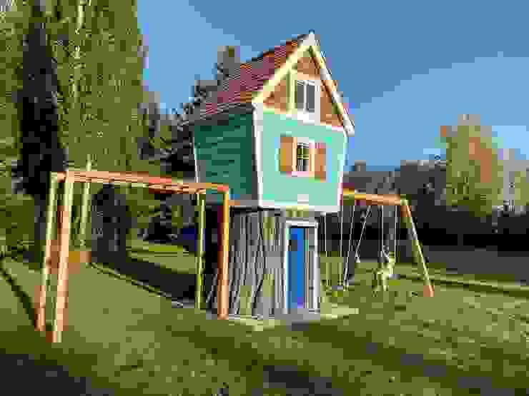 Mega casa del árbol de House Muebles Infantiles Moderno Madera Acabado en madera
