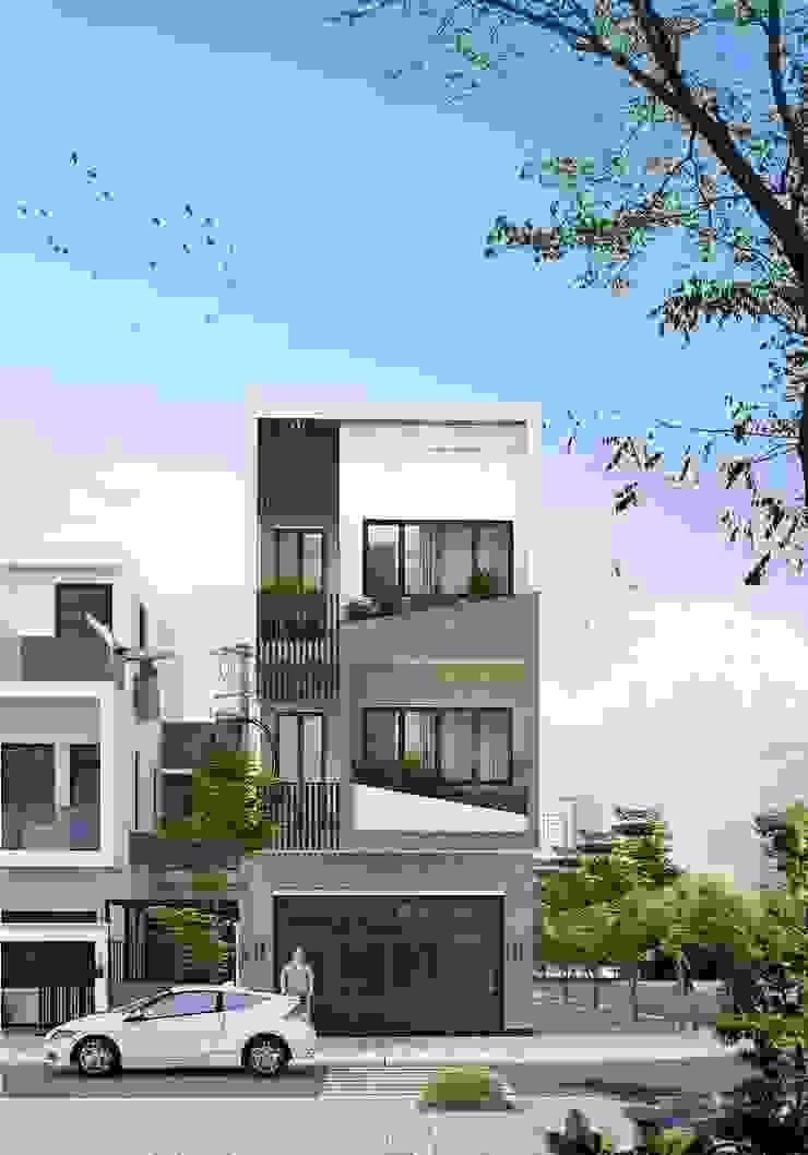 NP08- Nhà phố 5x10m 3 tầng hiện đại bởi Kiến trúc Vinh Hoàng