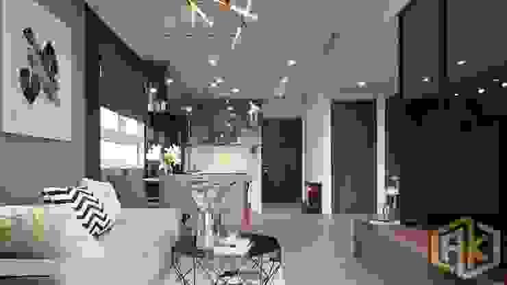 Modern Living Room by Công ty TNHH Tư vấn thiết kế xây dựng An Khoa Modern