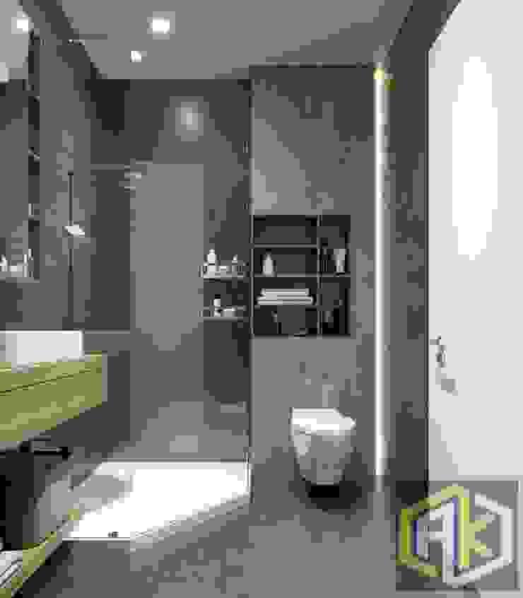 THIẾT KẾ NỘI THẤT CĂN HỘ BOTANICA | An Khoa Design Phòng tắm phong cách hiện đại bởi Công ty TNHH Tư vấn thiết kế xây dựng An Khoa Hiện đại