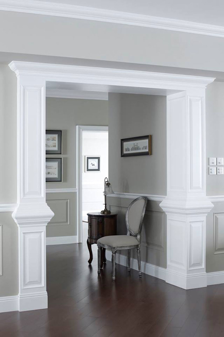 Georgian home –All about graceful details, timeless and elegant simplicity…. Classic style corridor, hallway and stairs by JC Vision Classic Wood Wood effect