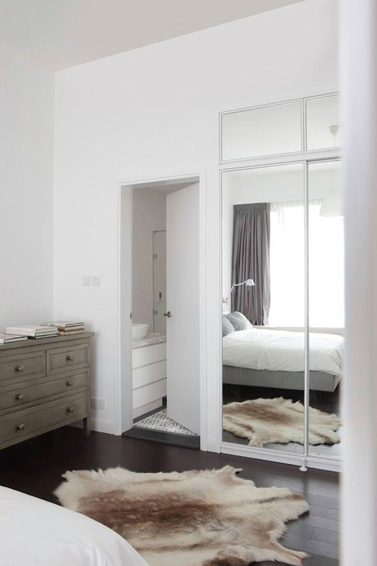 Nordic home in a natural palette... Scandinavian style bedroom by JC Vision Scandinavian Wood Wood effect
