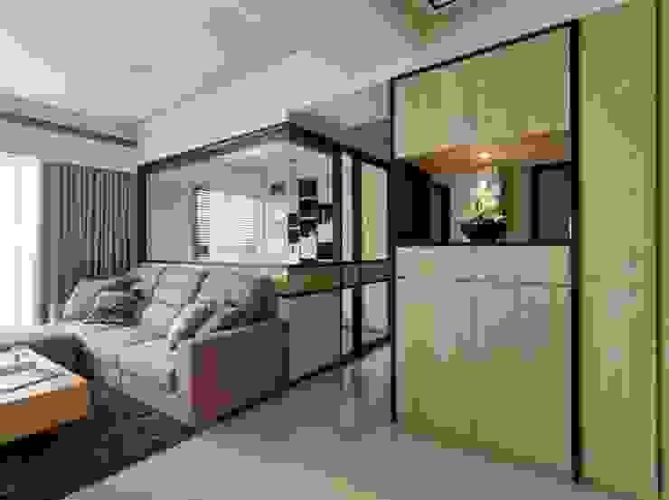 玄關 現代風玄關、走廊與階梯 根據 墨映室內裝修設計 現代風