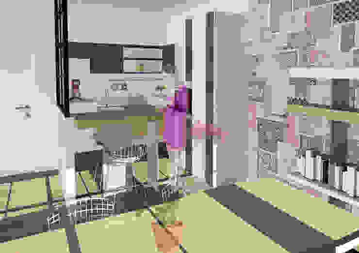 OrBiTa - Architettura oltre lo spazio Dapur Modern