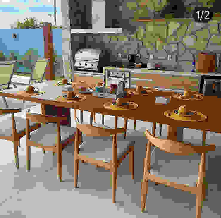 Camacã Design em Madeira ระเบียง นอกชานเฟอร์นิเจอร์ ไม้จริง
