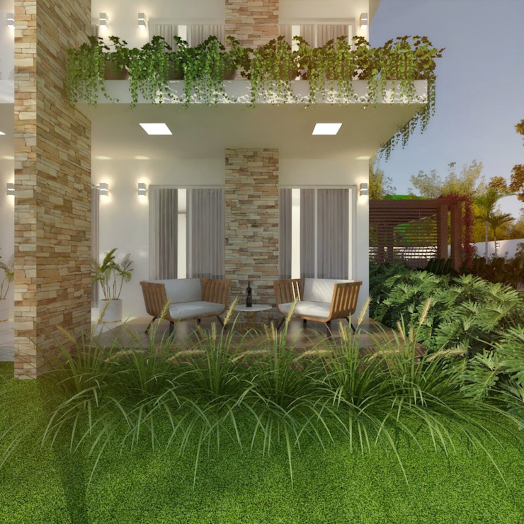 Cíntia Schirmer | arquiteta e urbanista Terrace house Bricks White