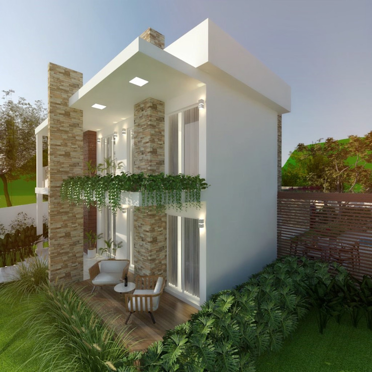 Cíntia Schirmer | arquiteta e urbanista Terrace house Bricks Beige