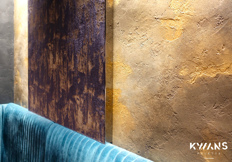 Tailor-made special paint finishes on wall Modern walls & floors by Kwan's Palette Limited Modern