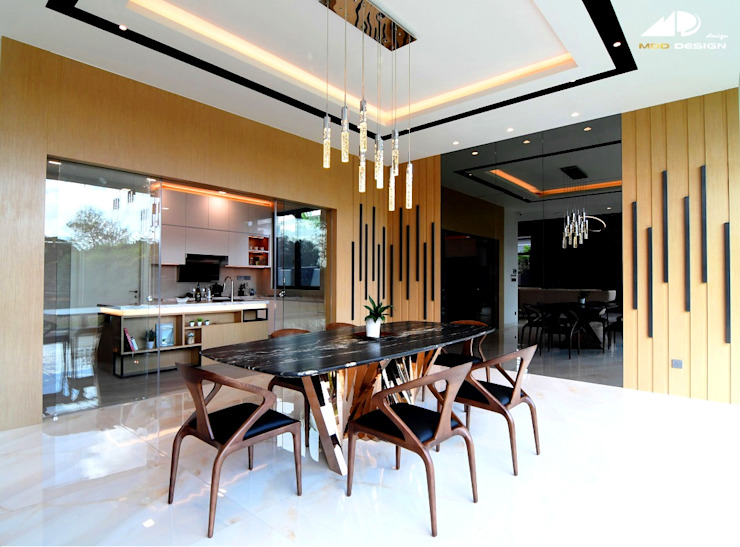 DOUBLE STOREY HOUSE @ BANDAR KINRARA, PUCHONG Modern dining room by MDD DESIGN SDN BHD Modern