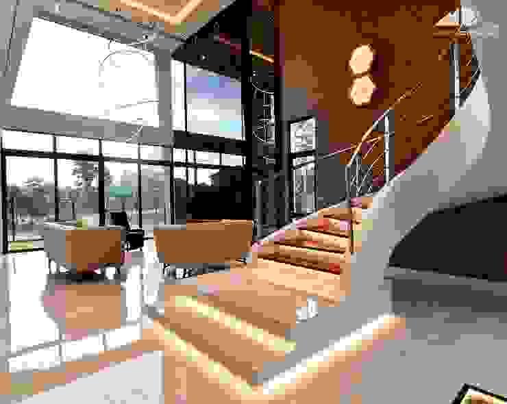 DOUBLE STOREY HOUSE @ BANDAR KINRARA, PUCHONG MDD DESIGN SDN BHD Living room