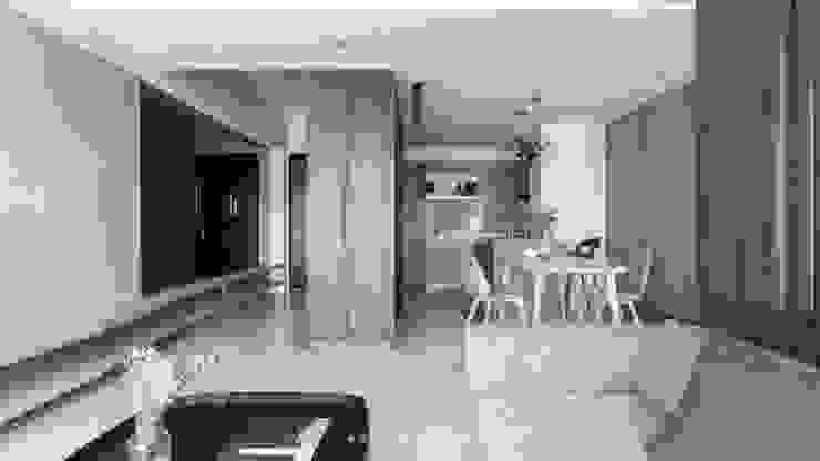 living area 现代客厅設計點子、靈感 & 圖片 根據 湜湜空間設計 現代風 木頭 Wood effect