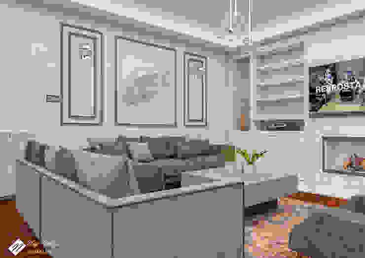 Salon Tasarım Endüstriyel Oturma Odası NEG ATÖLYE İÇ MİMARLIK Endüstriyel