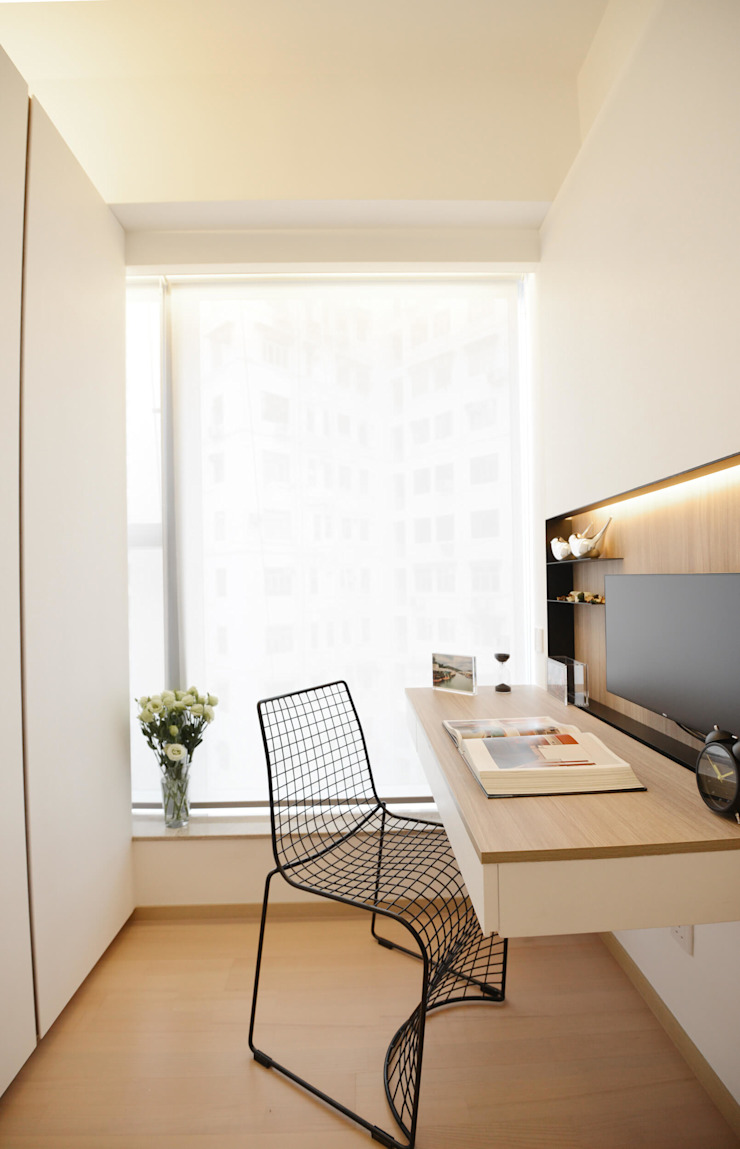 Modern Study Room and Home Office by A Square Ltd Modern Wood Wood effect