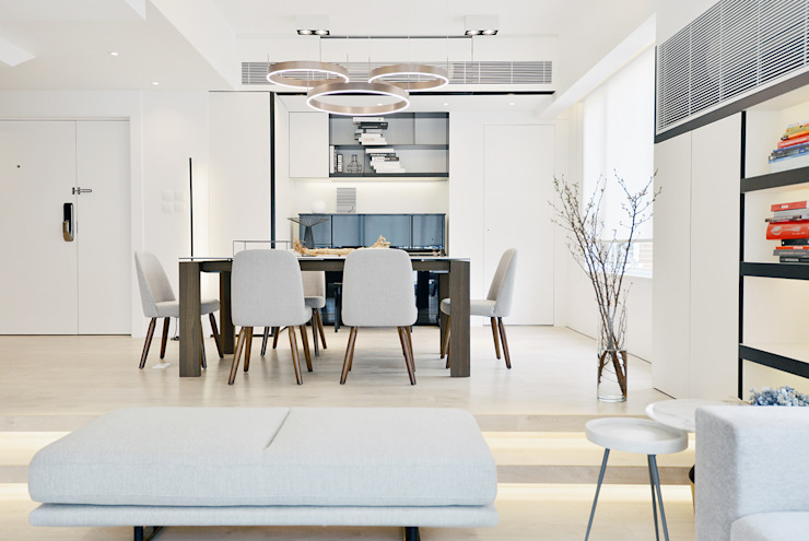 Mid-levels Modern dining room by A Square Ltd Modern Wood Wood effect