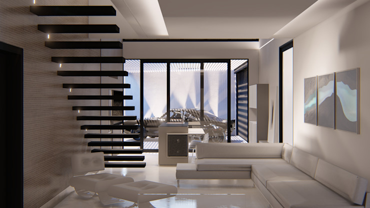 D arquitetura Ruang Keluarga Minimalis