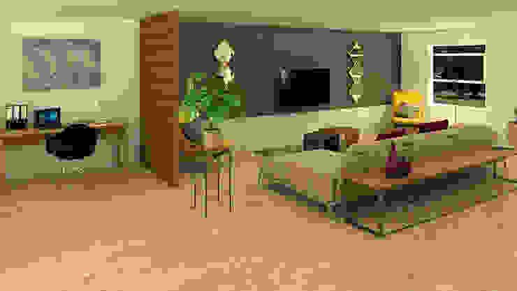 Oficina, Sala de TV Salas modernas de Milaro Interiorismo Moderno