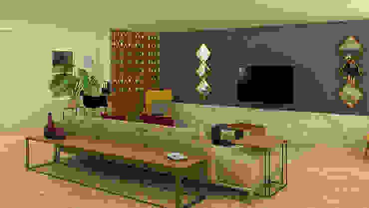 Sala de TV Salas modernas de Milaro Interiorismo Moderno
