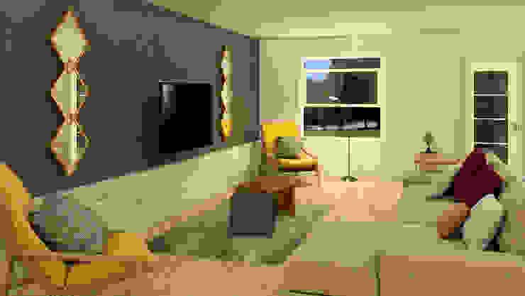 Sala de estar, Sala de TV Salas modernas de Milaro Interiorismo Moderno