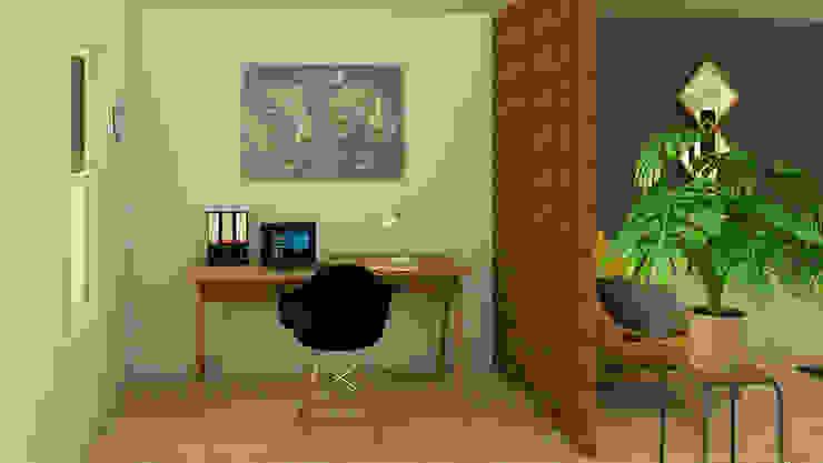 Oficina Habitaciones modernas de Milaro Interiorismo Moderno