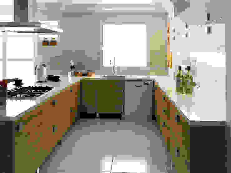 levent tekin iç mimarlık Cucina moderna