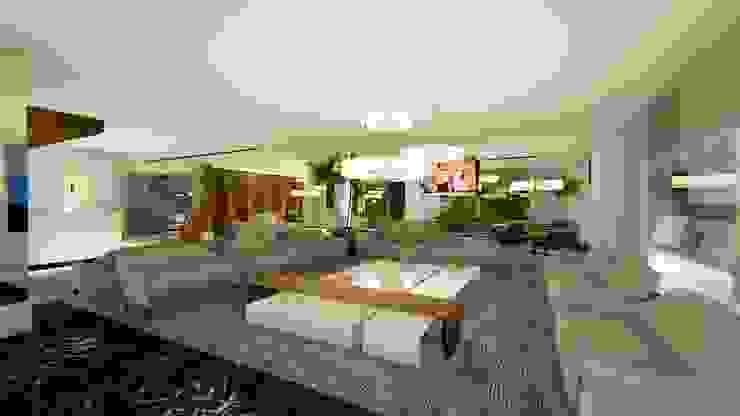 LOBBY | LIVING Arquitetura Sônia Beltrão & associados Hotéis modernos Mármore Cinza