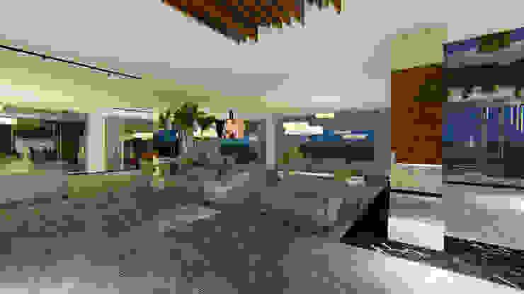 RECEPÇÃO | ESPERA Arquitetura Sônia Beltrão & associados Hotéis modernos Mármore Cinza
