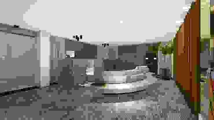 WORK LOUNGE | LOBBY Arquitetura Sônia Beltrão & associados Hotéis modernos Vidro Cinza