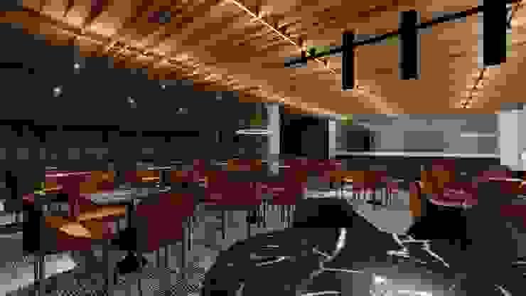 RESTAURANTE | LOBBY Arquitetura Sônia Beltrão & associados Hotéis modernos MDF Efeito de madeira