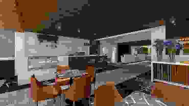 RESTAURANTE | COFFEE | LOBBY Arquitetura Sônia Beltrão & associados Hotéis modernos MDF Efeito de madeira
