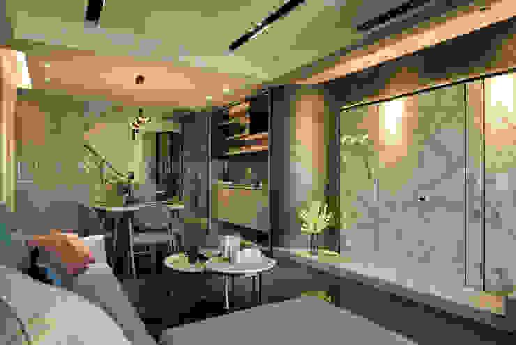 老屋新力/品悟.新敘 现代客厅設計點子、靈感 & 圖片 根據 SING萬寶隆空間設計 現代風
