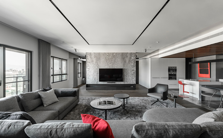 Modern Living Room by 十境創物空間設計 Modern
