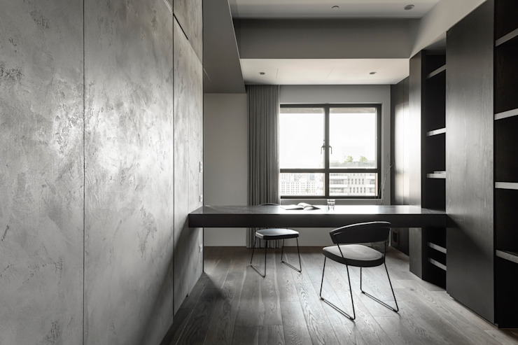 Modern Study Room and Home Office by 十境創物空間設計 Modern
