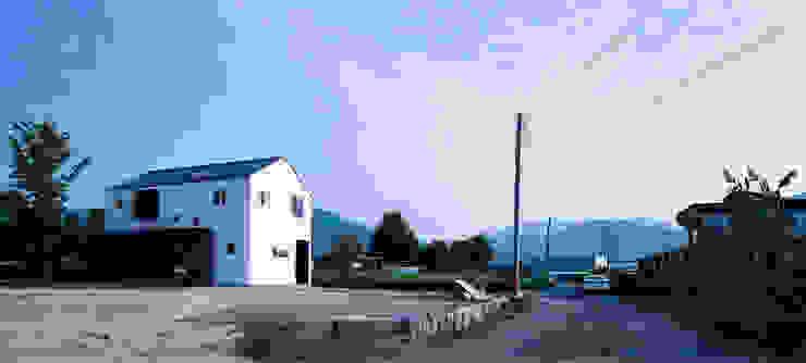 다락 위에 다락 화이트 & 블랙의 심플한 춘천모던하우스-외부 위드하임 모던스타일 주택