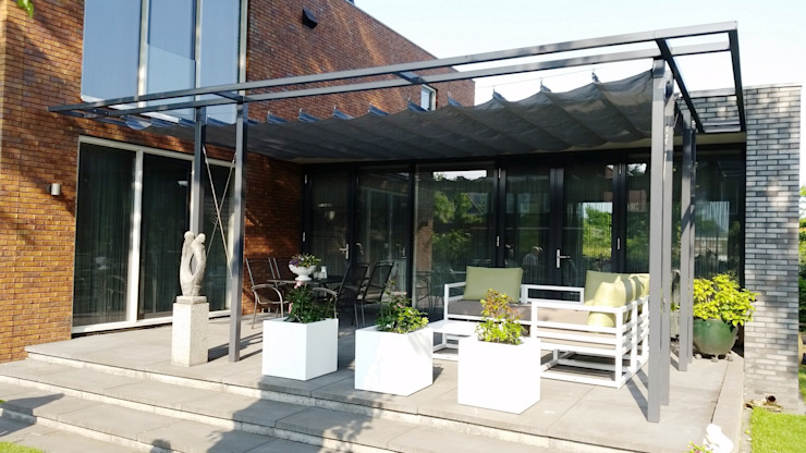 ZONZ sunsails Garden Greenhouses & pavilions Plastic Grey
