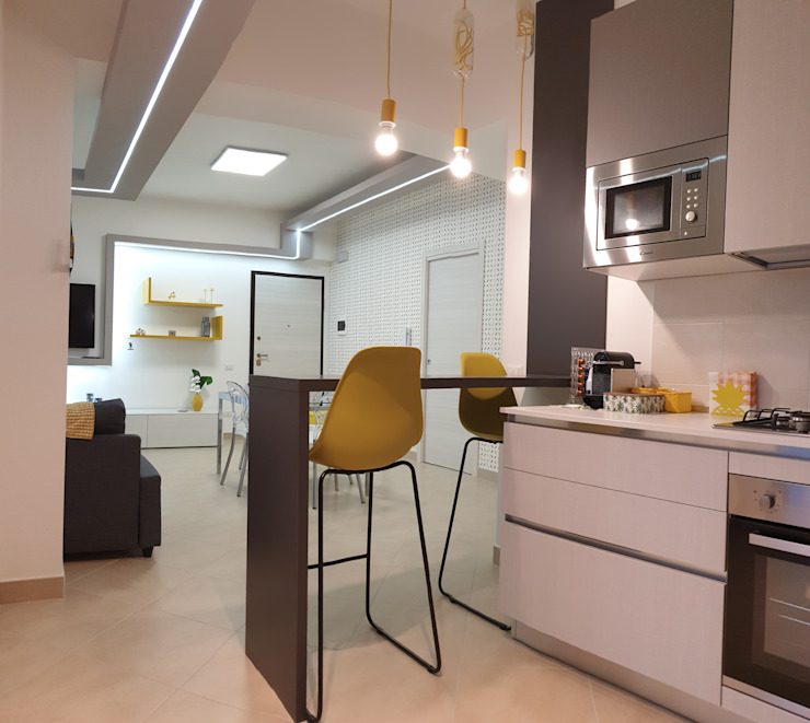 Vanila Studio Design Modern kitchen Yellow