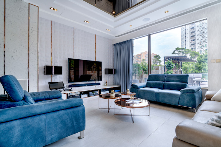 House in Tai Wai Colonial style living room by ED Design Limited Colonial